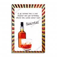 Slainte - Good Health Gaelic Birthday Card