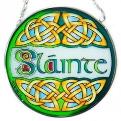 Slainte Stained Glass Panel