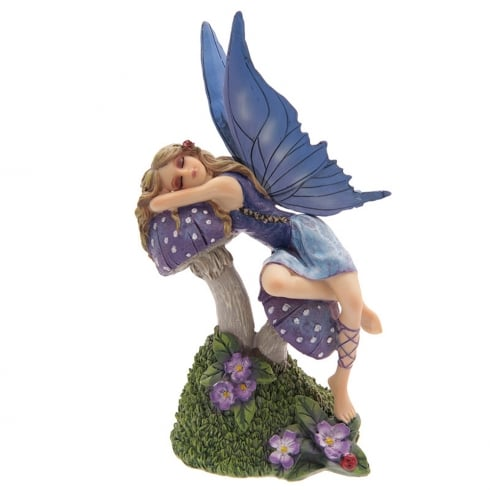 Puckator Sleeping Beauty Fairy On Mushroom Figurine By Lisa Parker