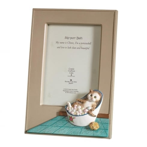 Comic & Curious Cats Slip-Purr Bath Photo Frame