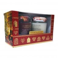 Small Candle Jars Christmas Gift Box Set of 2 - scent pack 1