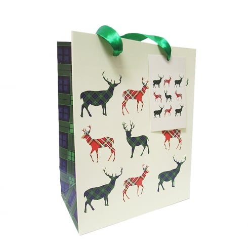 D & C Small Gift Bag Stag Design