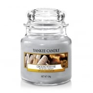 Small Jar Candle Crackling Wood Fire