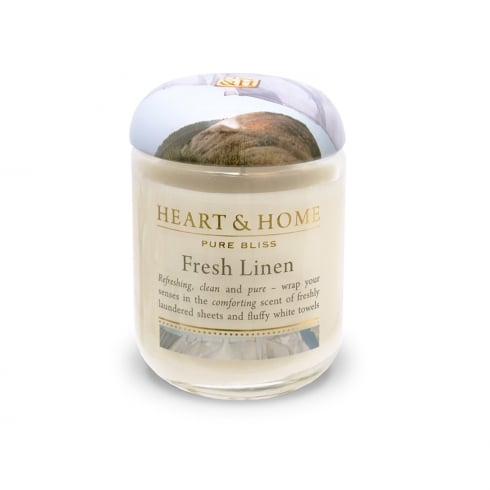 Heart & Home Small Jar Candle Fresh Linen