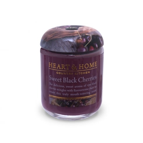 Heart & Home Small Jar Candle Sweet Black Cherries