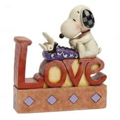 Snoopy at Typewriter Love Figurine/Plaque