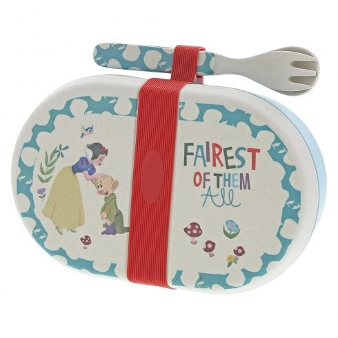 Disney Enchanting Collection Snow White - Organic Bamboo Snack Box with Cutlery