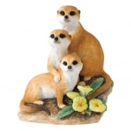 Snuggled Up Meerkat Figurine
