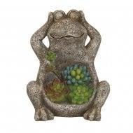 Solar Garden Frog 21.5cm