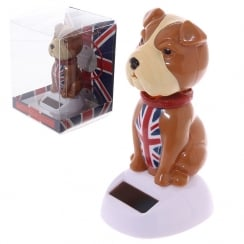 Solar Powered Bulldog Desk Toy