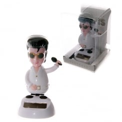 Solar Powered Elvis Dancing King Desk Toy