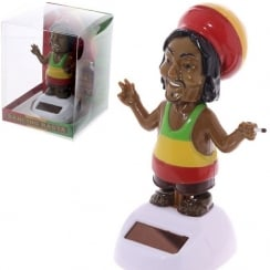 Solar Powered Rasta Novelty Desk Toy