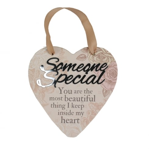 Reflective Words Someone Special Hanging Heart