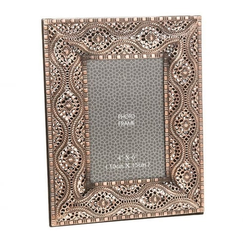 Shudehill Giftware Souk Copper 4 x 6 Photo Frame