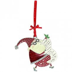 Sparkle Santa With List Christmas Decoration