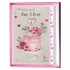Special Birthday Wish For The One I Love Boxed Cake Large Card