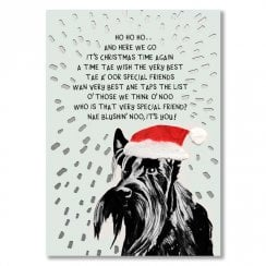 Special Friend Scottie Dog Christmas card