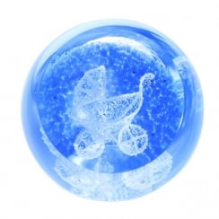Special Moments Pram Blue Paperweight