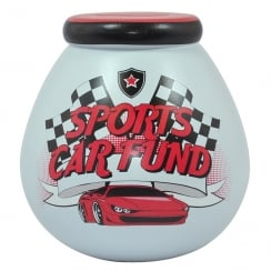 Sports Car Fund Ceramic Money Pot