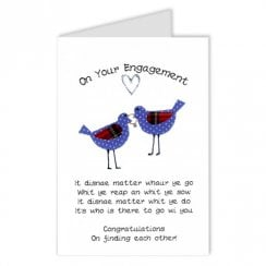 Spotty Birds Scottish On Your Engagement Card