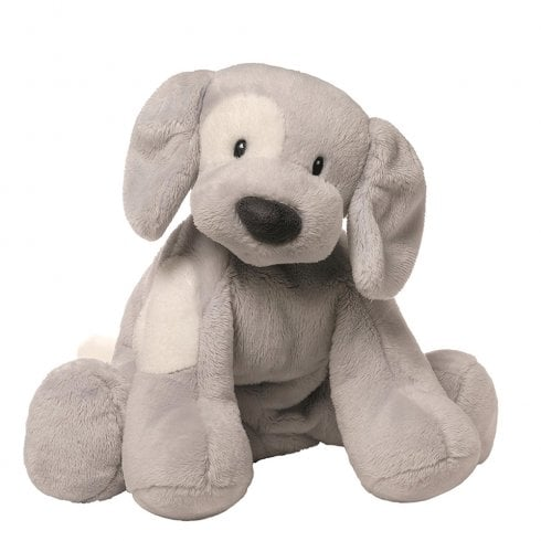Gund Spunky Dog Keywind Grey Musical Soft Toy
