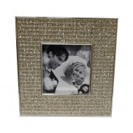 Square Photo Frame with Crystals