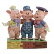 Squealing Siblings Three Little Pigs Figurine