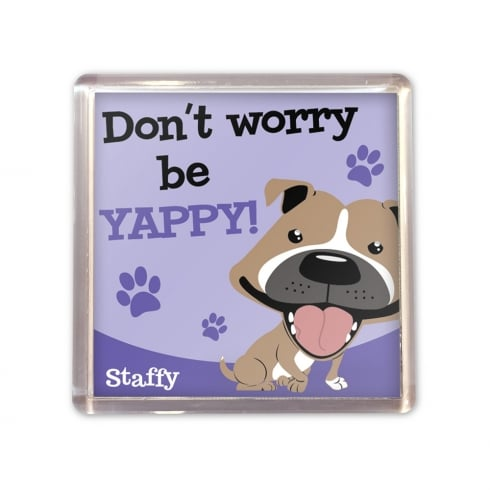 Wags & Whiskers Staffy Brown Magnet