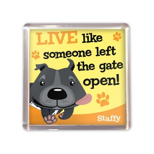 Wags & Whiskers Staffy Magnet