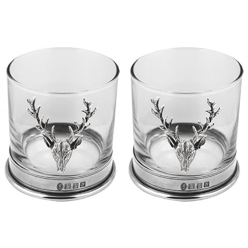 Piper Pewter Stag Double Tumbler Pewter