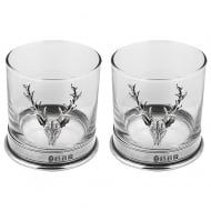 Stag Double Tumbler Pewter