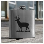 Stag engraved 6oz Hip Flask