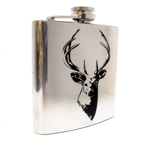 Joe Davies Stag Hip Flask 6oz