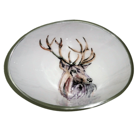 Tilnar Art Stag Oval Bowl Small 16cm