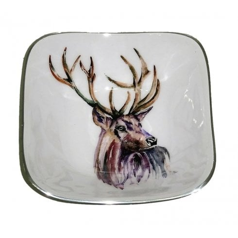 Tilnar Art Stag Square Bowl 16cm