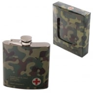 Stainless Steel 6oz Hip Flask - Camouflage
