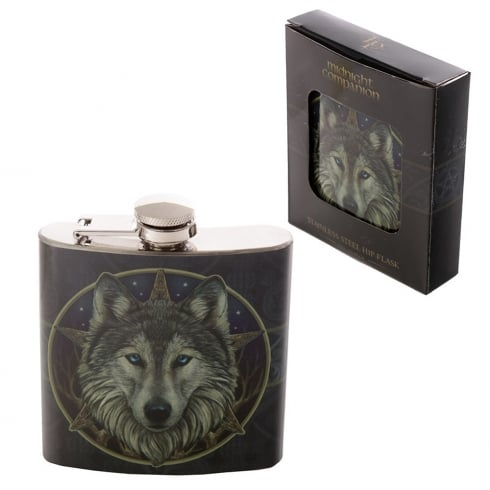 Puckator Stainless Steel 6oz Hip Flask - Lisa Parker Wolf