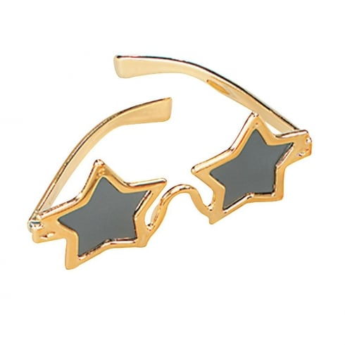 Bristol Novelty Star Glasses Gold