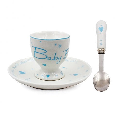 Star & Heart Baby Boy Egg Cup Gift Set