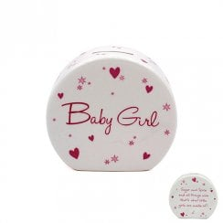 Star & Heart Baby Girl Money Bank
