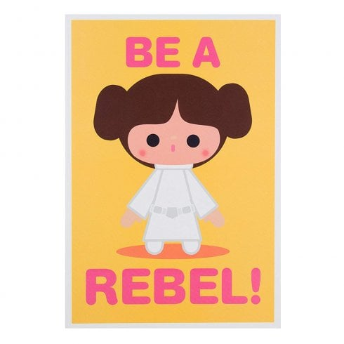 "Hallmark Star Wars Princess Leia ""Be A Rebel"" 14 x 20cm Blank Card 25480707"