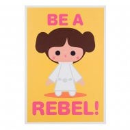 "Star Wars Princess Leia ""Be A Rebel"" 14 x 20cm Blank Card 25480707"