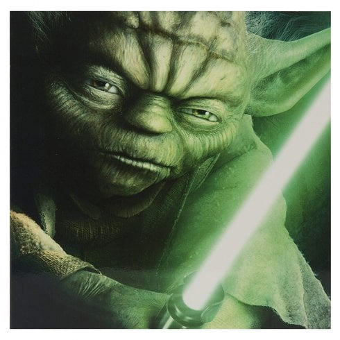 Hallmark Star Wars Yoda With Lightsaber 16 x 16cm Blank Card 11515878
