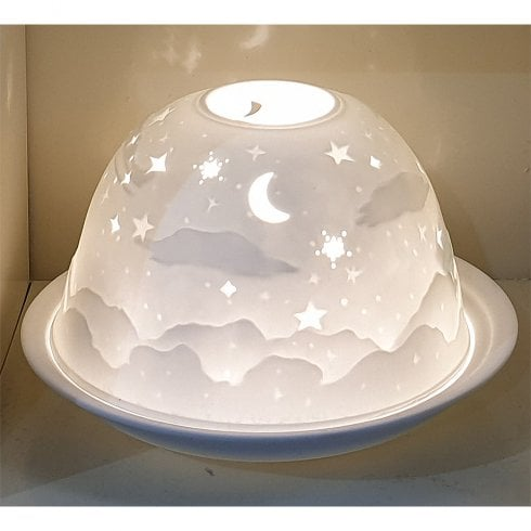 Nordic Lights Starry Night Tealight Candle Shade & Tray