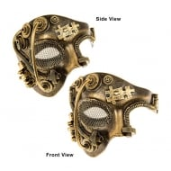 Steampunk Half Face Mask