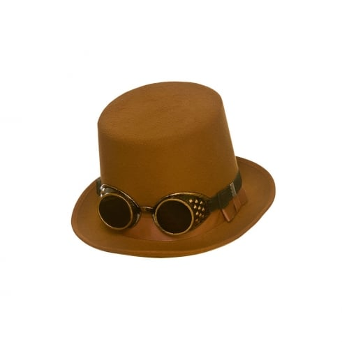 Wicked Costumes Steampunk Hat With Googles - Brown
