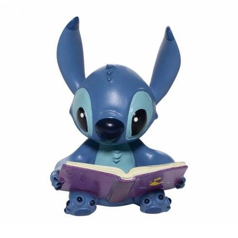 Disney Showcase Stitch Reading Book Mini Figurine