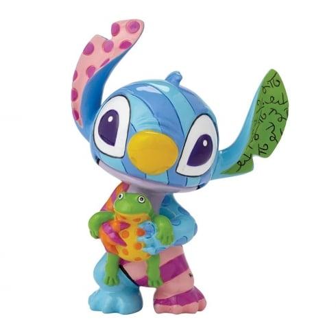 Disney By Britto Stitch Standing With Frog Mini Figurine