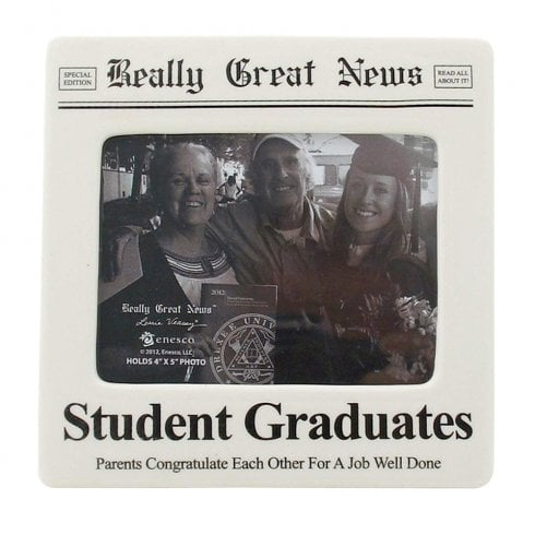 Really Great News Student Graduates 4 x 5 Photo Frame