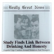 Study Finds Link between Drinking & Honesty Photo Frame Coaster